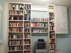 Built-in Billy bookshelf