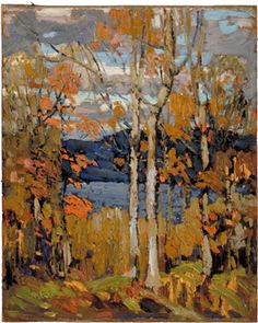 Autumn, Algonquin Park - Large x inches**all sizes are approximateImage credit:Tom Thomson, 1877 - Algonquin Park, on x 41 cmGift of Mr. Canadian Painters, Canadian Artists, Landscape Art, Landscape Paintings, Contemporary Landscape, Group Of Seven Paintings, Tom Thomson Paintings, Algonquin Park, Create Picture