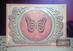 Hazel Parr - Create a card Wrap Arounds - Butterfly A5 card -Garden Party Create a Card die - Bijou Butterflies 6x6 Embossing Folder - Die'sire Butterfly Lullaby Collection: Butterfly Dance Die - Centura Pearl Hint of Silver - Centura Pearl Lavender and Fresh Pink -Collall Tacky Glue - Collall 3D Glue Gel - Collall All Purpose glue - Distress Ink Worn Lipstick and Victorian Velvet - Clear gems - #crafterscompanion