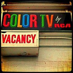 A vintage #RCA Color TV sign