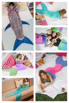 Blankie Tails Mermaid Tail Blankets & Shark Blankets- perfect for cozy fun at home or on-the-go!
