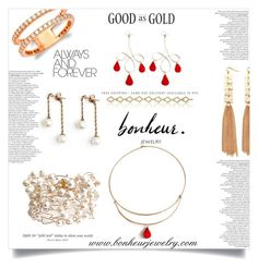 """""""Bonheurjewelry"""" by ammya ❤ liked on Polyvore featuring women's clothing, women's fashion, women, female, woman, misses, juniors and bonheurjewelry"""