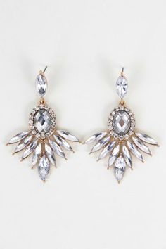 Claudette Drop Earrings - Start a friendly sparkle competition with your twinkle lights!