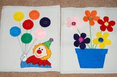 Shapes Balloon Page (Clown or Boy and Girl)