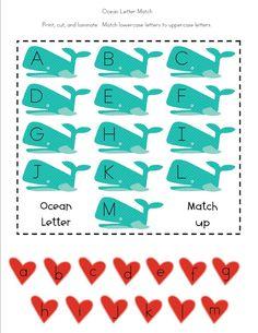 Free Printable Ocean Themed Activities for Preschoolers.
