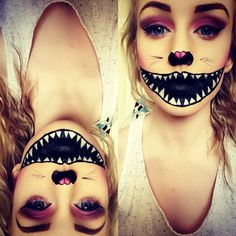 Cheshire cat makeup.                                                                                                                                                                                 More