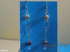 Gold Dangle earrings hand created in USA.