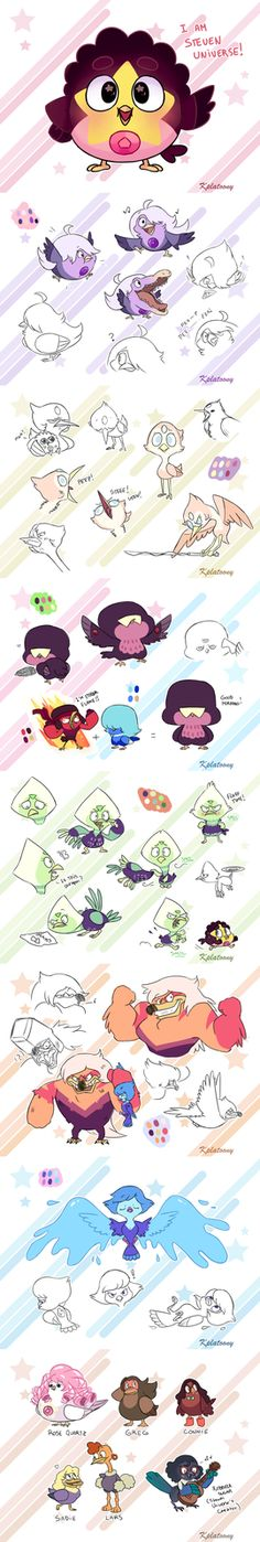 We are the Crystal Birds oh look at my little Peridot