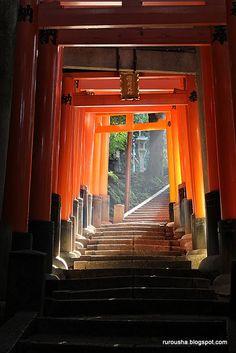 The famous Torii at Fushimi Inari Taisha, Kyoto, Japan