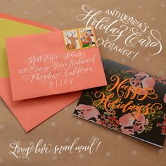 Calligraphy Tutorial   Holiday Card Exchange!