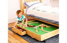 Under bed play table - genius!