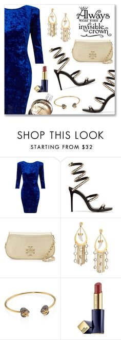 Outfit of the Day by dressedbyrose on Polyvore featuring Miss Selfridge, René Caovilla, Tory Burch, Gucci, House of Lavande, Estée Lauder and Chanel