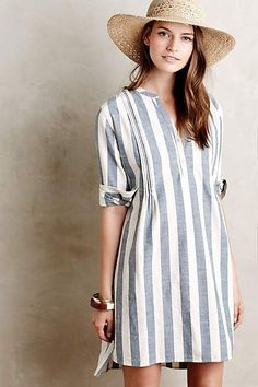 Nilima Tunic Dress - 2019 - and white summer dress casual blue casual dress summer blue summer dress casual casual blue dress - blue dress casual - Summer Blue Dresses 2019 Linen Dresses, Women's Dresses, Dress Outfits, Dresses With Sleeves, Dress Sleeves, Fashion Dresses, Pretty Dresses, Fashion Clothes, Dresses Online