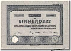 Süddeutsche Zucker AG (Südzucker AG )  / Inhaberaktie 100 DM, Mannheim Dezember 1951