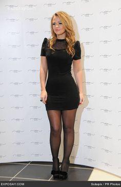 Short Mini Dress, Mini Dresses, Kimberley Walsh, In Pantyhose, Celebs, Celebrities, Hosiery, Dress Skirt, Tights