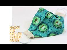 Neue Form: Maske für Brillenträger nähen inkl. gratis Schnittmuster - YouTube Easy Baby Sewing Patterns, Baby Clothes Patterns, Baby Sewing Projects, Crochet Blanket Patterns, Sewing Tutorials, Crochet Stitches, Crochet Projects, Diy Gown, Diy Masque