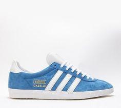 Mode Homme Adidas Originals Gazelle OG Trainer Bleu Blanc Or France Pas Cher En Ligne
