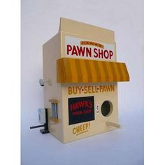 How cute is this bird house? birdie pawn