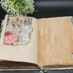 Junk Journal Handmade Floral Junk Journal Soft Covered | Etsy Floral Upholstery Fabric, Floral Fabric, Handmade Journals, Vintage Journals, Quilt Batting, Memory Books, Cotton Quilts, Junk Journal, Fabric Books