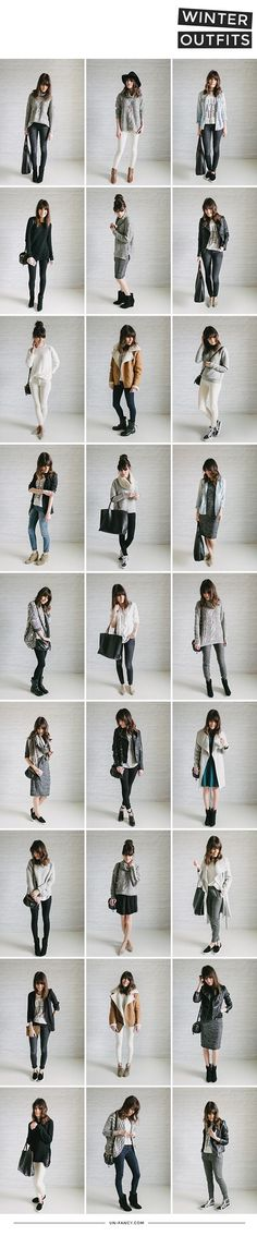 Un-Fancy's Winter Outfits | Capsule Wardrobe