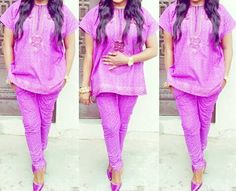 Agbada Men's inspired Agbada top and skinny pants by Zizibespoke
