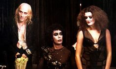 Still from The Rocky Horror Picture Show starring Richard O'Brien, Tim Curry and Patricia Quinn