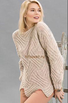 Пуловер в технике энтрелак спицами http://hitsovet.ru/pulover-v-texnike-entrelak-spicami/