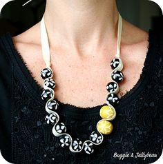 Ribbon and Bead Necklace {DIY}