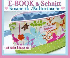 Nähanleitungen Taschen - ♥ E-Book Kosmetiktasche ♥ Schnitt & Anleitung - ein Designerstück von Staghorn bei DaWanda