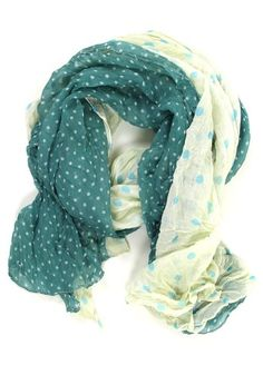 On the Dot Crinkle Scarf: Teal. Yes. I can already sense last winter's obsession has not left me yet...