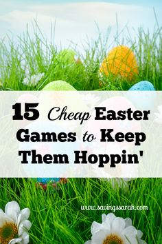 Looking for ideas to make this Easter a fun celebration for all ages? Have a look at these 15 Inexpensive Easter Games To Keep Them Hoppin'.