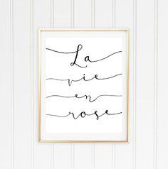 La Vie En Rose Printable Poster // Printable by DarlingandSailor