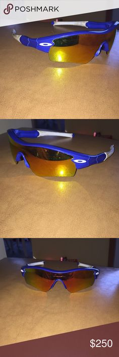 Reader Oakley sunglasses Baseball warn just need new lenses if need there good for now just a little scratched but not bad really good I got them for 350 retail when they first came out and come with sleeve Oakley Accessories Glasses