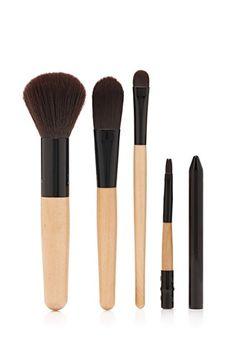 Faux Wood Brush Set   Forever 21   #beautymark