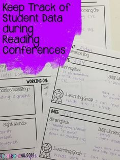 Classroom Confetti: 11 Tips to Start Conferring during your Reading Block. FREE tips to jumpstart your reading block this year! Student data tracker and conference notes.