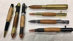 Koa pen, koa revolver pen, Hawaiian Koa wood Pen, Gun metal bolt action, 50 Cal Pen, Gear Shift Pen, Koa Twist Pen,