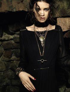"Diana Moldovan in ""Boho Dark"" by Henrique Gendre forVogue Brazil,May 2013"