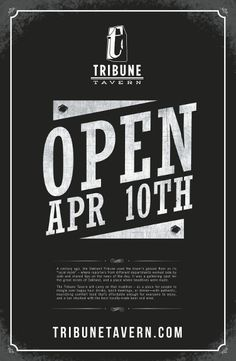 Poster for Tribune Tavern
