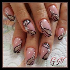 and Beautiful Nail Art Designs Fingernail Designs, Pink Nail Designs, Beautiful Nail Designs, Beautiful Nail Art, Acrylic Nail Designs, Nails Design, Nail Art Flower Designs, Flower Design Nails, Fancy Nails