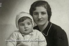 Ludmila Soukupová-Kovárníková with her daughter Ludmila. Photo from http://www.ceskatelevize.cz/porady/10350893065-heydrich-konecne-reseni