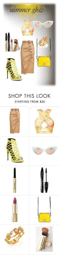 """Summer Glow"" by cheryl-muscoe ❤ liked on Polyvore featuring self-portrait, Wild Diva, Crap, Trish McEvoy, Lancôme, Dolce&Gabbana, Paula Cademartori, Alexander McQueen, Sweat and summerstyle"