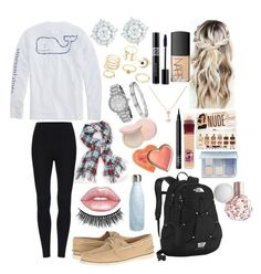 """""""School 51"""" by ella-goodness on Polyvore featuring Charlotte Russe, Sperry, Michael Kors, Mémoire, Cartier, Lime Crime, The North Face, A B Davis, Anastasia Beverly Hills and Maybelline"""