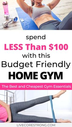 Discover recipes, home ideas, style inspiration and other ideas to try. Cheap Home Gym, Best Home Gym Equipment, No Equipment Workout, Fitness Equipment, Cheap Gym Equipment, Fun Workouts, At Home Workouts, Fitness Workouts