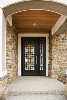 I like this door, if we went with all glass and needed to stick with a single door, which I believe we do - JD (Single Steel Door with a Doorlite & Sidelite / Wrought Iron Inserts
