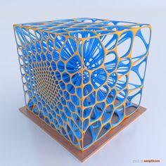 VOronoi Cube (109) by asopticom on DeviantArt