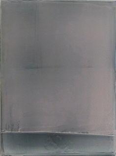 MATT  MCCLUNE - White Over Gray Painting