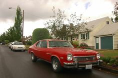 OLD PARKED CARS.: 1974 Buick Apollo Hatchback.