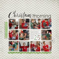 What a fun layout with multiple photos!  Write. Click. Scrapbook. Documenting Your December by Jennifer Hignite.