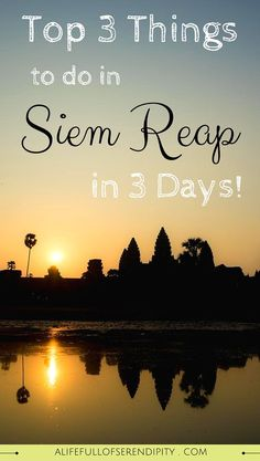 Top Three Things to Do in Siem Reap Cambodia // What to Do in Siem Reap Cambodia - Apart from the obvious of having to visit Angkor Wat, I was blown away by the beauty of the city itself - getting lost in the alleyways to take photos rewarded me with a side of the city that I would otherwise never have seen. And then we braved it and tried something that really pushed me out of my comfort zone...click on the Pin to read more!