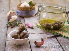 Funghi grigliati sotto olio - La Ricetta